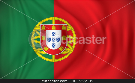 Flag of Portugal stock vector clipart, Flag of Portugal - vector illustration by ojal_2