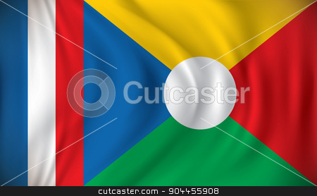 Flag of Reunion stock vector clipart, Flag of Reunion - vector illustration by ojal_2