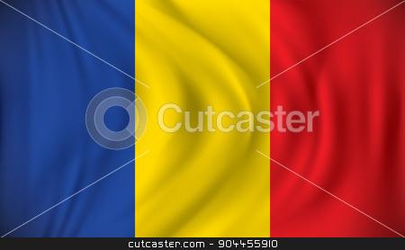 Flag of Romania stock vector clipart, Flag of Romania - vector illustration by ojal_2