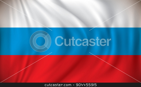 Flag of Russia stock vector clipart, Flag of Russia - vector illustration by ojal_2