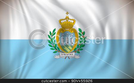 Flag of San Marino stock vector clipart, Flag of San Marino - vector illustration by ojal_2