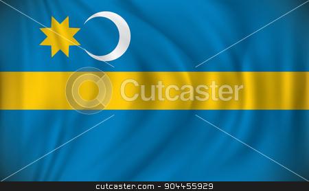 Flag of Szeklerland stock vector clipart, Flag of Szeklerland - vector illustration by ojal_2