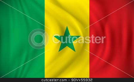 Flag of Senegal stock vector clipart, Flag of Senegal - vector illustration by ojal_2