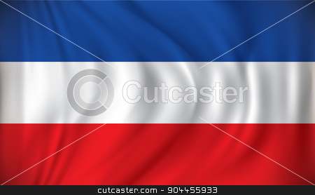 Flag of Serbia and Montenegro stock vector clipart, Flag of Serbia and Montenegro - vector illustration by ojal_2