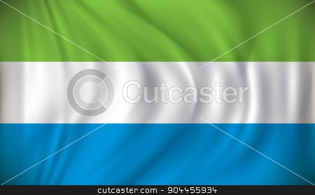Flag of Sierra Leone stock vector clipart, Flag of Sierra Leone - vector illustration by ojal_2