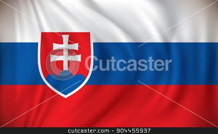 Flag of Slovakia stock vector clipart, Flag of Slovakia - vector illustration by ojal_2