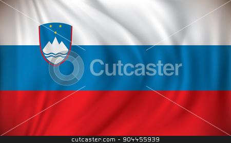 Flag of Slovenia stock vector clipart, Flag of Slovenia - vector illustration by ojal_2