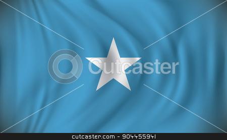 Flag of Somalia stock vector clipart, Flag of Somalia - vector illustration by ojal_2