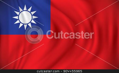 Flag of Taiwan stock vector clipart, Flag of Taiwan - vector illustration by ojal_2