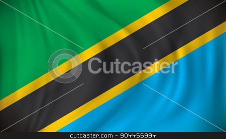 Flag of Tanzania stock vector clipart, Flag of Tanzania - vector illustration by ojal_2