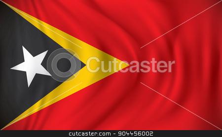 Flag of Timor-Leste stock vector clipart, Flag of Timor-Leste - vector illustration by ojal_2