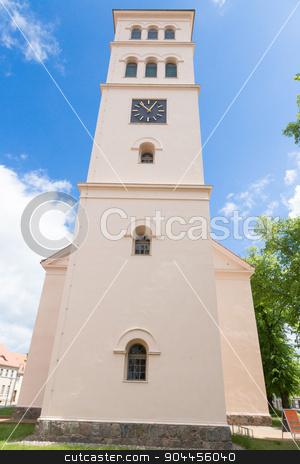 Church facade Liebenwalde stock photo, Evangelical Church of Liebenwalde in Brandenburg by Bernd Kröger