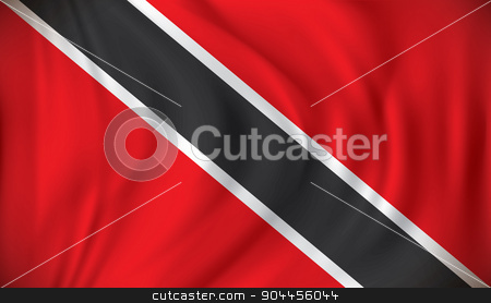 Flag of Trinidad and Tobago stock vector clipart, Flag of Trinidad and Tobago - vector illustration by ojal_2