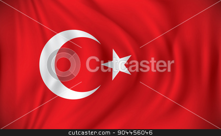 Flag of Turkey stock vector clipart, Flag of Turkey - vector illustration by ojal_2