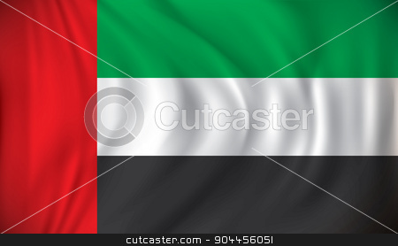 Flag of United Arab Emirates stock vector clipart, Flag of United Arab Emirates - vector illustration by ojal_2