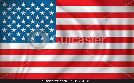 Flag of United States of America stock vector clipart, Flag of United States of America - vector illustration by ojal_2