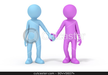 couple hand in hand stock photo, An image of a man and a woman hand in hand by Markus Gann