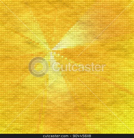 Sunburst Rays With Tiles Effect stock photo, 2D rendered image. Sunburst rays with tiles effect. by Maribor