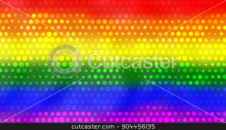 LGBT Flag With Bright Dots Effect stock photo, 3D rendered image of LGBT flag with bright dots effect. by Maribor