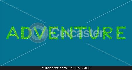 adventure text tropical island stock vector clipart, adventure Tropical Islands that form the text by kozyrevaelena