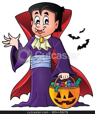 Halloween vampire theme image 1 stock vector clipart, Halloween vampire theme image 1 - eps10 vector illustration. by Klara Viskova