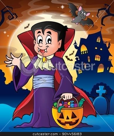 Halloween vampire theme image 2 stock vector clipart, Halloween vampire theme image 2 - eps10 vector illustration. by Klara Viskova