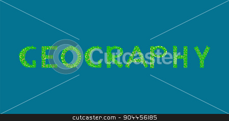geography text tropical island stock vector clipart, geography Tropical Islands that form the text by kozyrevaelena