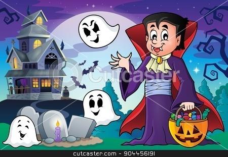 Halloween vampire theme image 5 stock vector clipart, Halloween vampire theme image 5 - eps10 vector illustration. by Klara Viskova