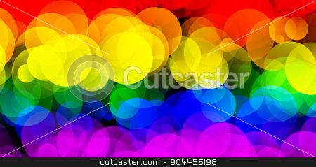 LGBT Flag With Gradient Circle Effect stock photo, 2D rendered image of LGBT flag with gradient circles effect. by Maribor