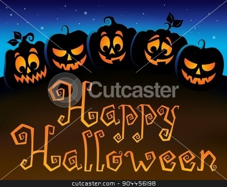 Happy Halloween topic image 6 stock vector clipart, Happy Halloween topic image 6 - eps10 vector illustration. by Klara Viskova