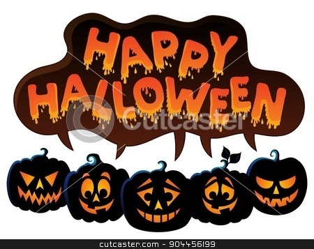 Happy Halloween topic image 7 stock vector clipart, Happy Halloween topic image 7 - eps10 vector illustration. by Klara Viskova