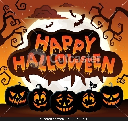 Happy Halloween topic image 8 stock vector clipart, Happy Halloween topic image 8 - eps10 vector illustration. by Klara Viskova