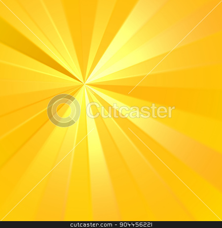 Sunburst Rays stock photo, 2D rendered image. Sunburst rays effect. by Maribor