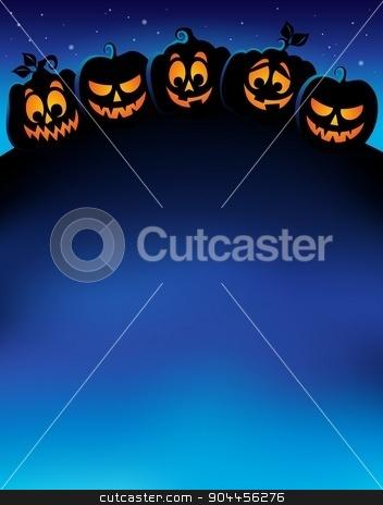 Pumpkin silhouettes theme image 1 stock vector clipart, Pumpkin silhouettes theme image 1 - eps10 vector illustration. by Klara Viskova