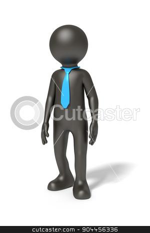 black man render stock photo, An image of a simple standing black man by Markus Gann