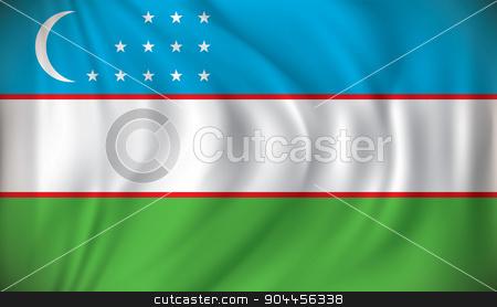 Flag of Uzbekistan stock vector clipart, Flag of Uzbekistan - vector illustration by ojal_2