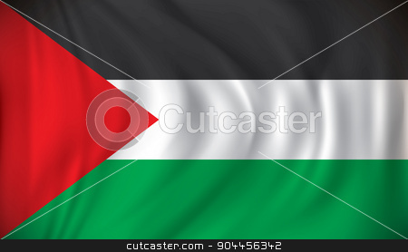 Flag of West Bank stock vector clipart, Flag of West Bank - vector illustration by ojal_2