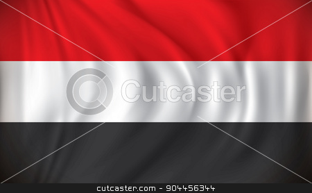 Flag of Yemen stock vector clipart, Flag of Yemen - vector illustration by ojal_2
