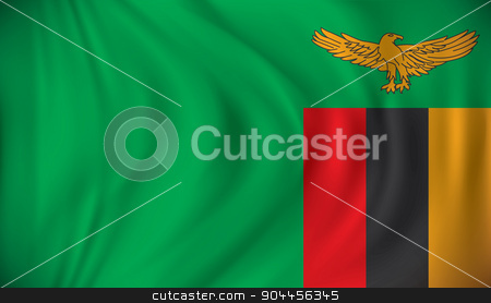 Flag of Zambia stock vector clipart, Flag of Zambia - vector illustration by ojal_2