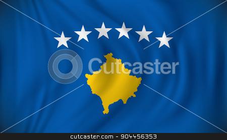 Flag of Kosovo stock vector clipart, Flag of Kosovo - vector illustration by ojal_2