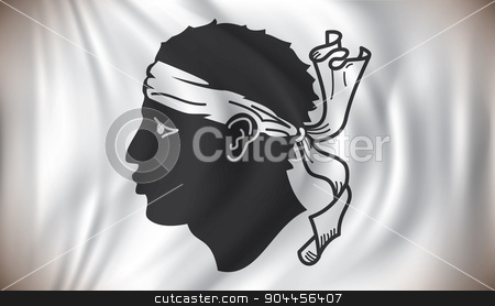 Flag of Corsica stock vector clipart, Flag of Corsica - vector illustration by ojal_2