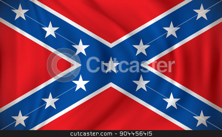Flag of Confederate stock vector clipart, Flag of Confederate - vector illustration by ojal_2