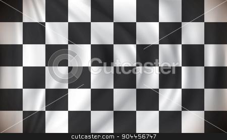 Checkered Race Flag stock vector clipart, Checkered Race Flag - vector illustration by ojal_2