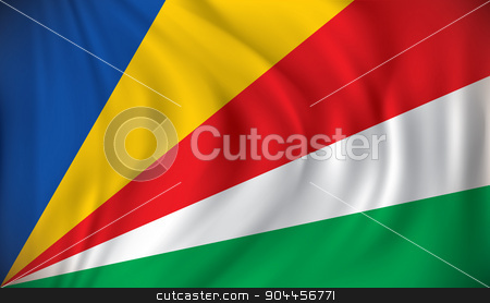 Flag of Seychelles stock vector clipart, Flag of Seychelles - vector illustration by ojal_2