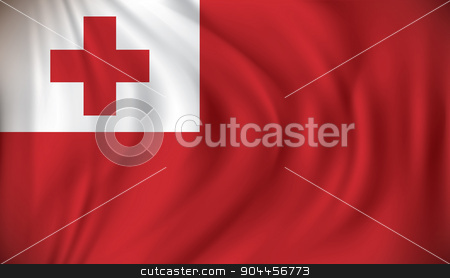 Flag of Tonga stock vector clipart, Flag of Tonga - vector illustration by ojal_2