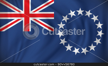 Flag of Cook Islands stock vector clipart, Flag of Cook Islands - vector illustration by ojal_2