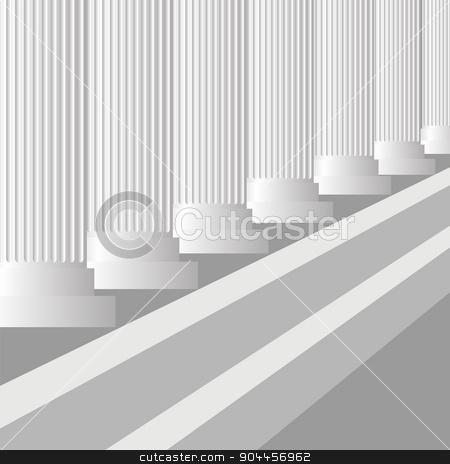 Grey Columns stock vector clipart, Grey Columns Background. Classic Greek Grey Pillars by valeo5