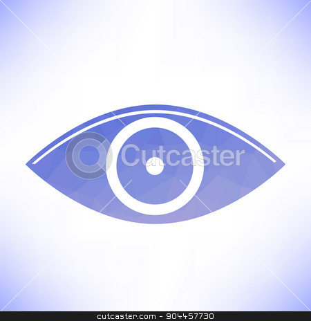 Blue Eye stock vector clipart, Blue Eye Icon Isolated on White Background by valeo5
