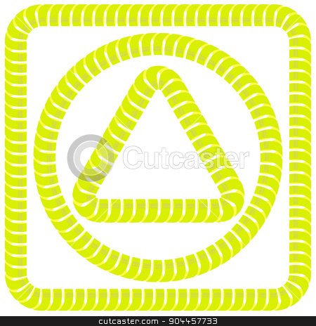 Yellow Frames stock vector clipart, Set of Yellow Paper Frames Isolated on White Background by valeo5
