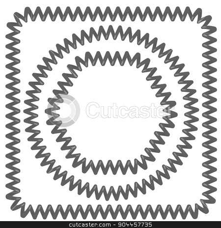 Grey Cable Frames stock vector clipart, Set of Grey Cable Frames Isolated on White Background by valeo5
